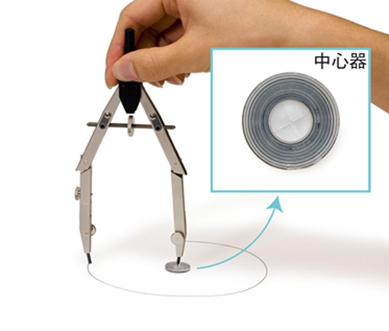 中心器を使うと針で紙面を傷つけることがありません