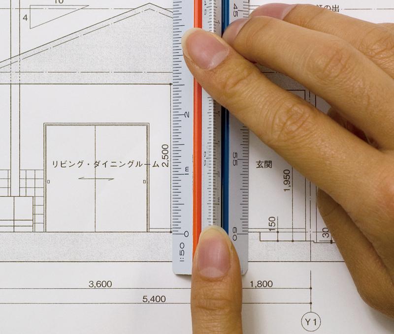 スケールの尺度は、図面の尺度と同一のものを使用します