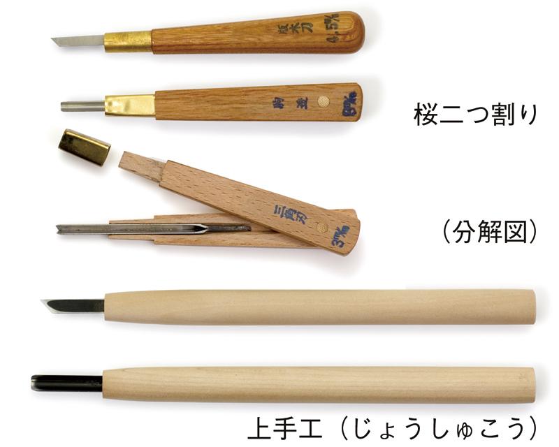 彫刻刀の柄の種類