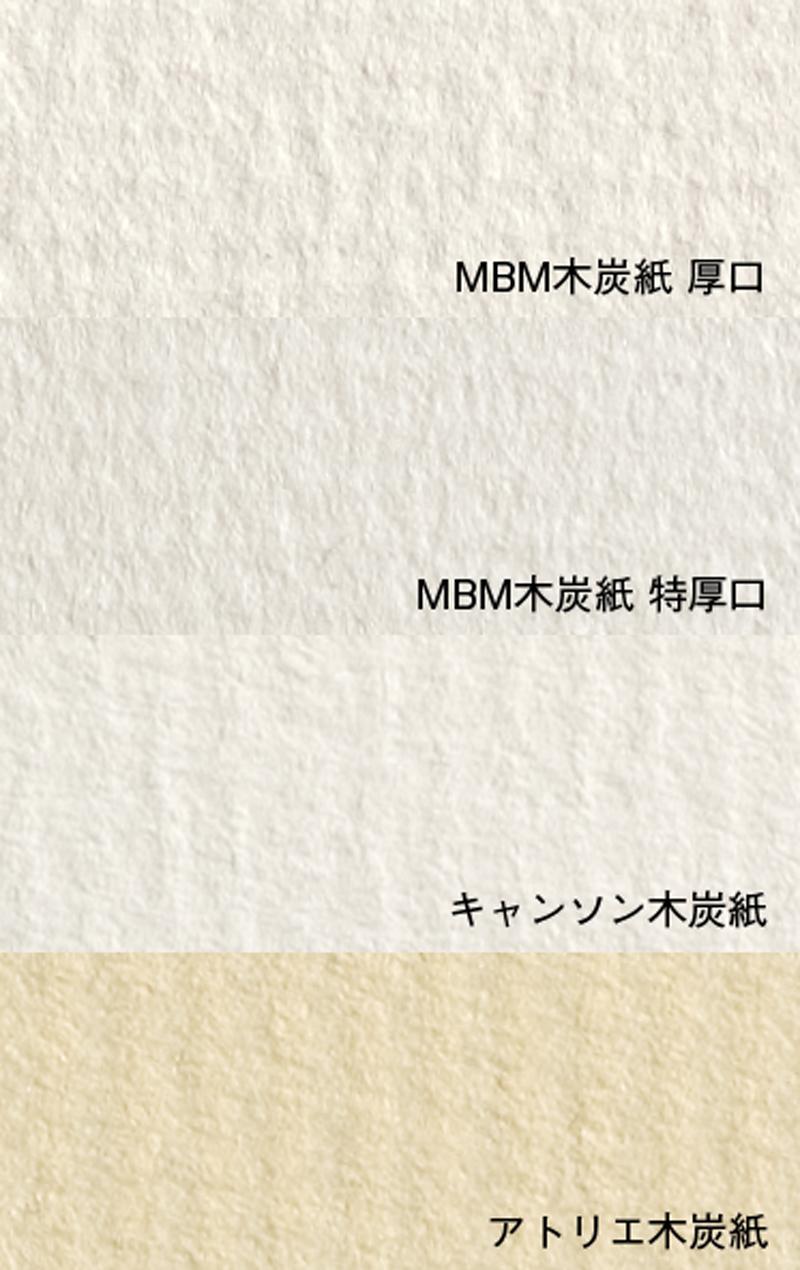 木炭紙(拡大写真)