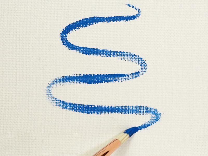 柔軟で伸びのある線を描く(丸筆)