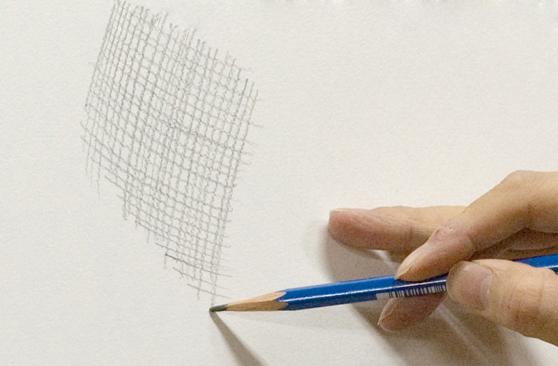 線を格子状に引く(クロスハッチング)