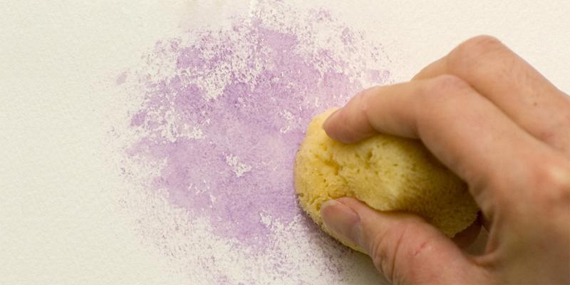 砂目のような効果で塗る