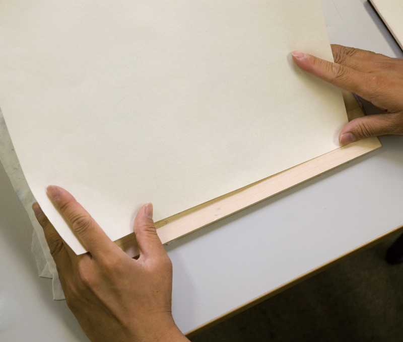 紙の合わせ方