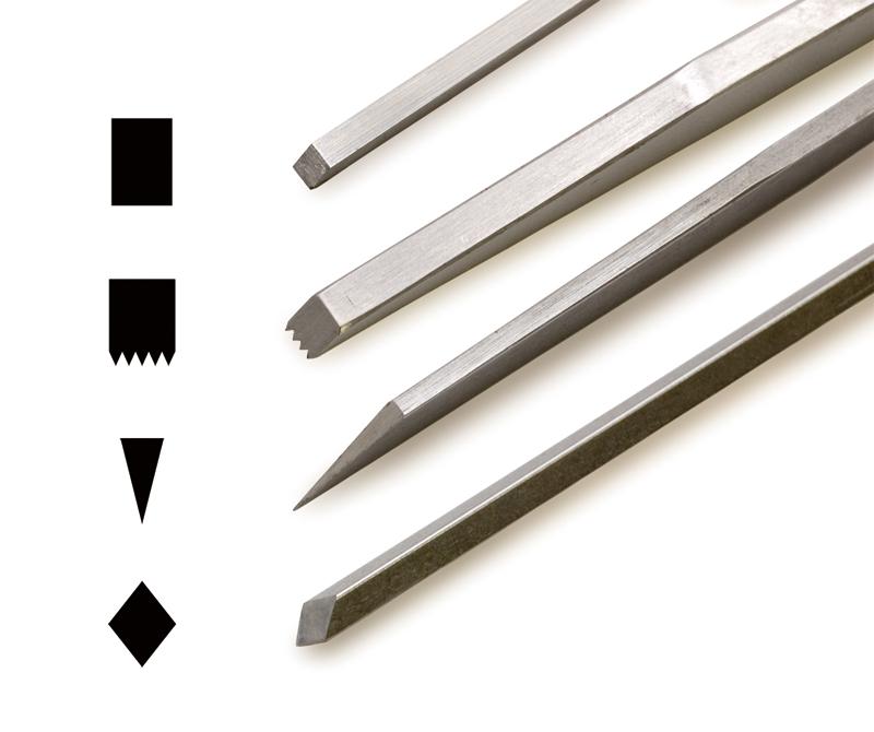 刃先の形状と拡大写真