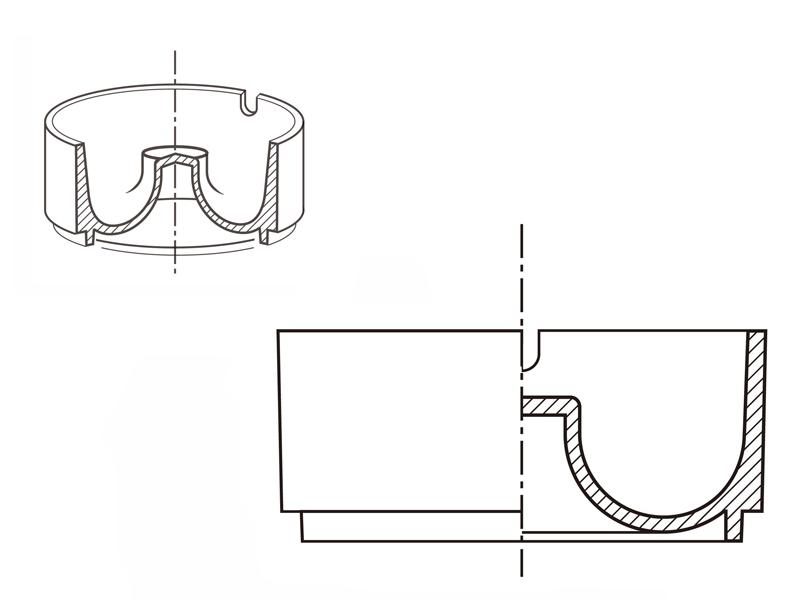 片側断面図