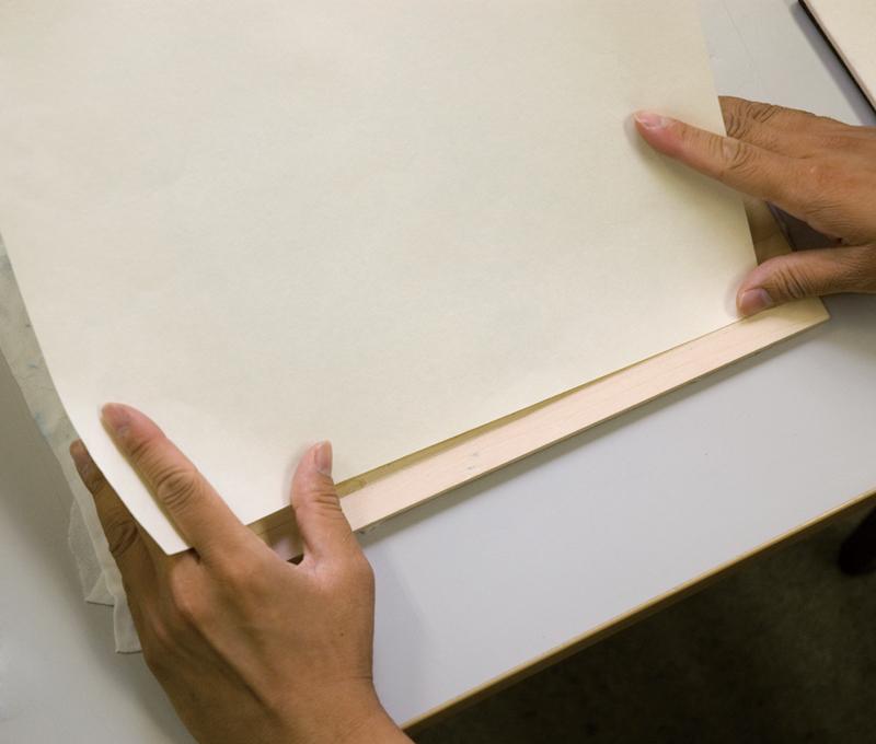 内見当による紙の合わせ方