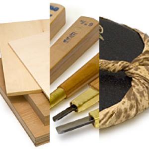 板目木版画用具