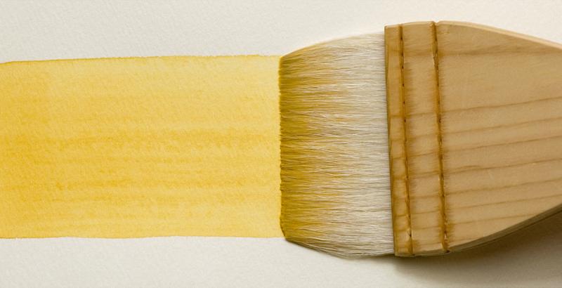 刷毛で広い面を塗る