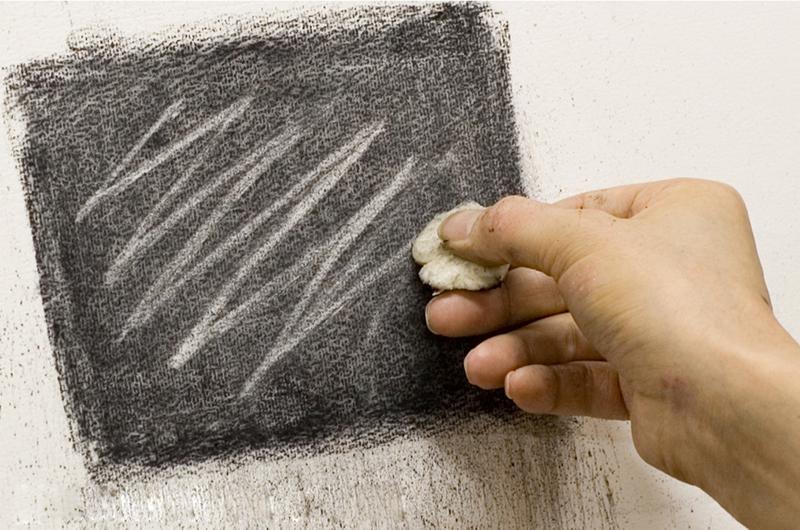 食パンを固めて線を引く